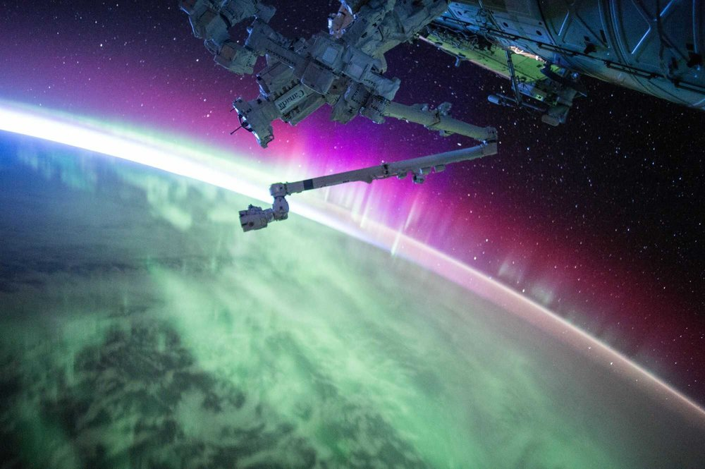 NASA Picture of auroras from ISS